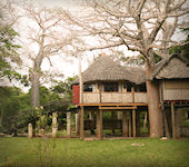 The Cove Luxury Treehouses zuidkust Kenia - interieur receptie